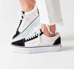 VANS Old Skool Chex Platform Shoes